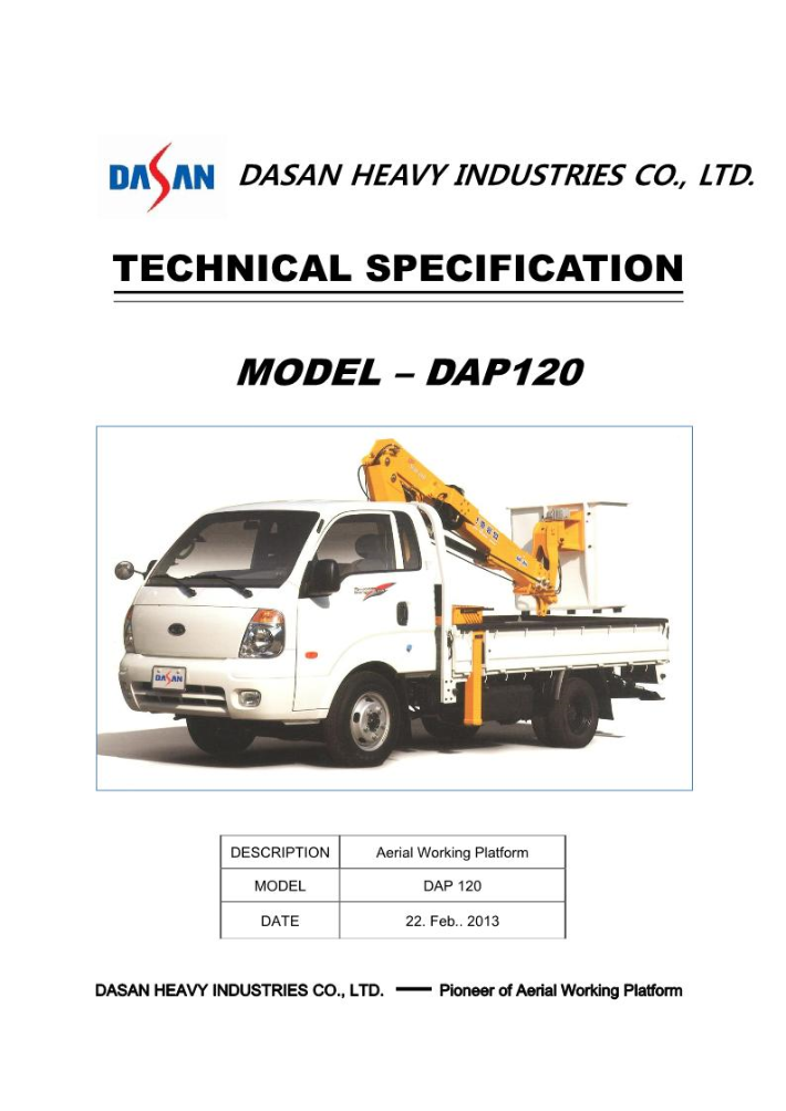 Dasan Heavy Industries Compact Type DAP Series 13
