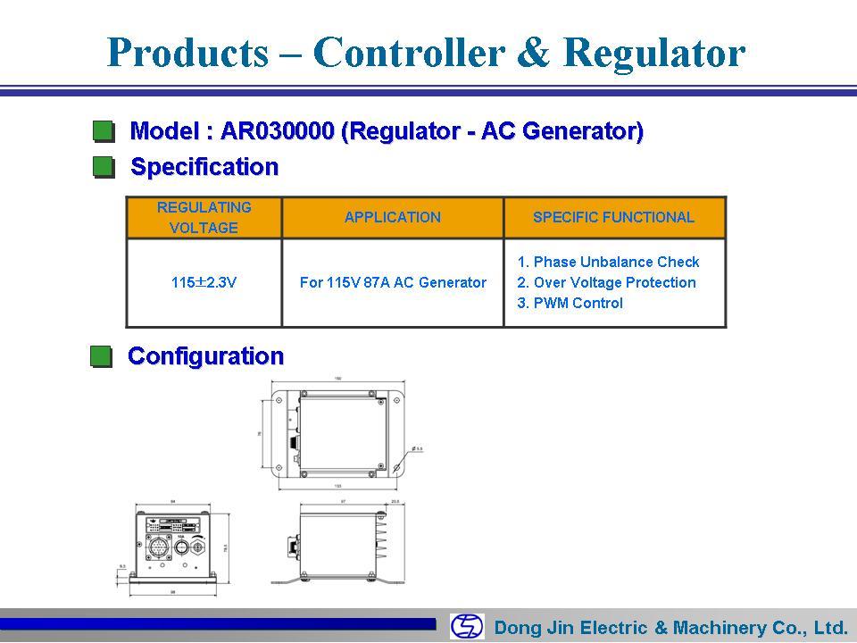 DongJin Electric&Machinery AC Regulator AR030000