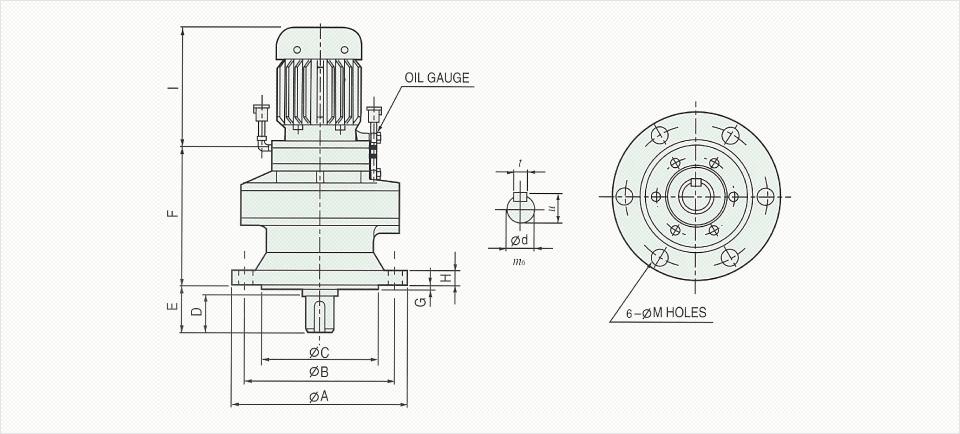 창신기계제작소 싸이크로이드 감속기 - Vertical Reducer  6