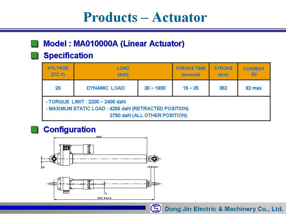 동진전기 Actuator Elec Mecha (Radar) MA010000A 1