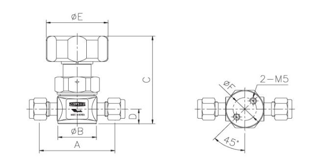 ASFLOW Forged Type Manual Diaphragm Valve  3