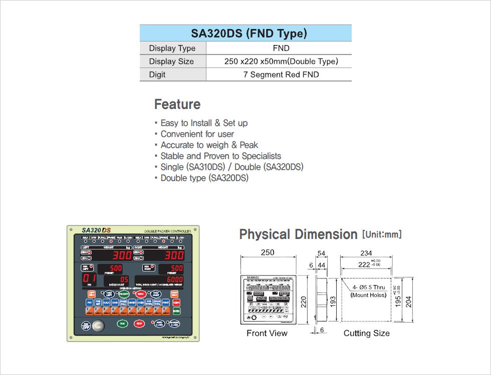 SEWHA CNM Auto Packer Controller SA320DS
