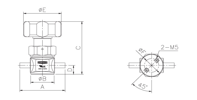 ASFLOW Forged Type Manual Diaphragm Valve  4