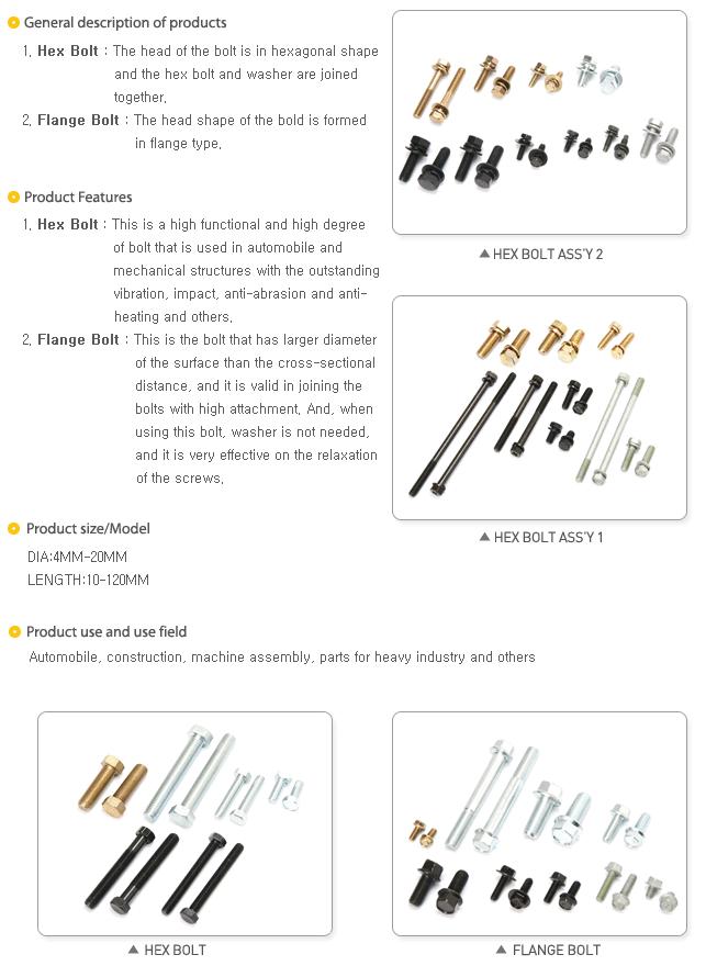 Sanghee Metal General Bolts
