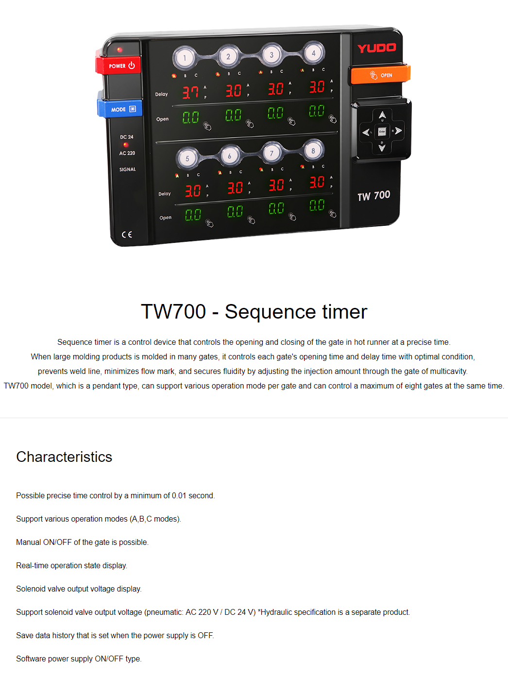 YUDO Sequence timer TW700