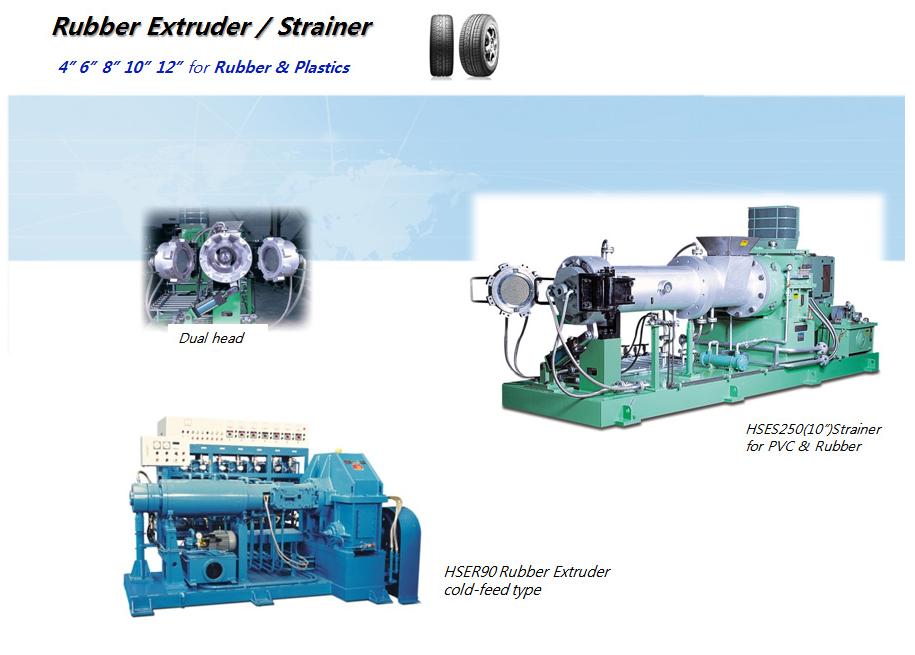 HANKOOK E.M Rubber Extruder / Strainer HSES250, HSER90