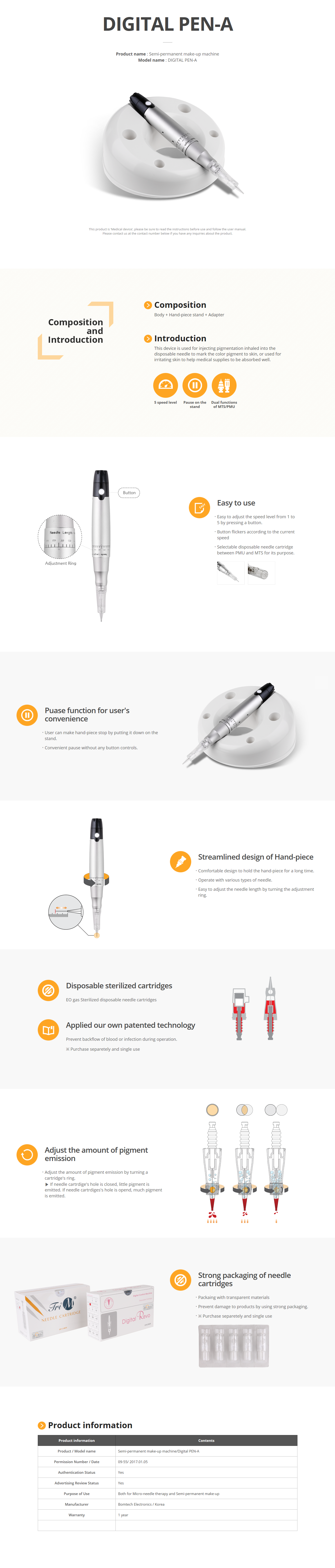 Bomtech Semi-permanent make-up machine DIGITAL PEN-A