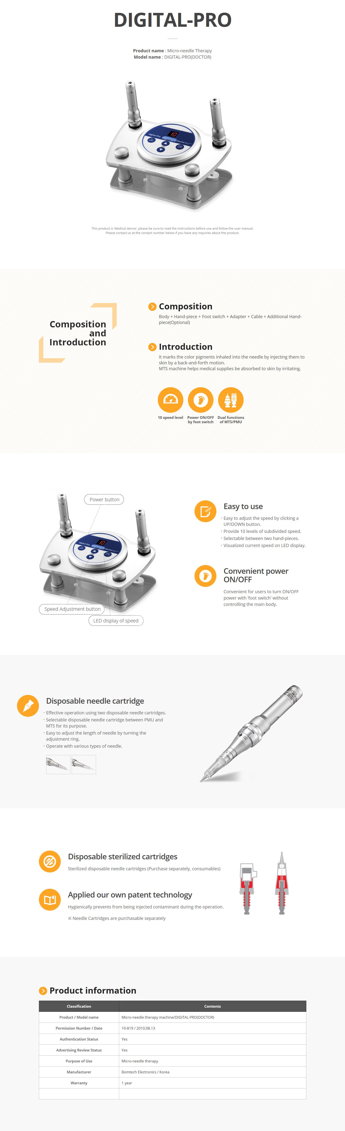 Bomtech Micro-needle Therapy DIGITAL-PRO