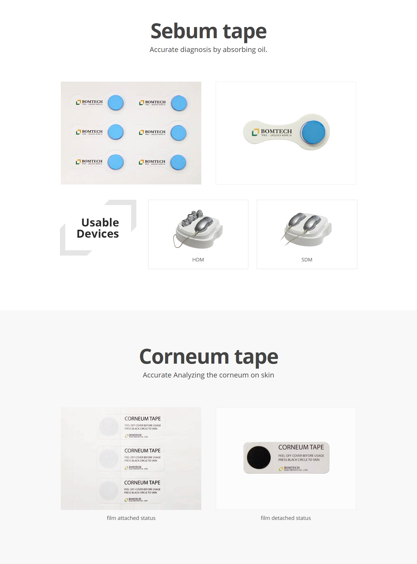 Bomtech Sebum tape / Corneum tape