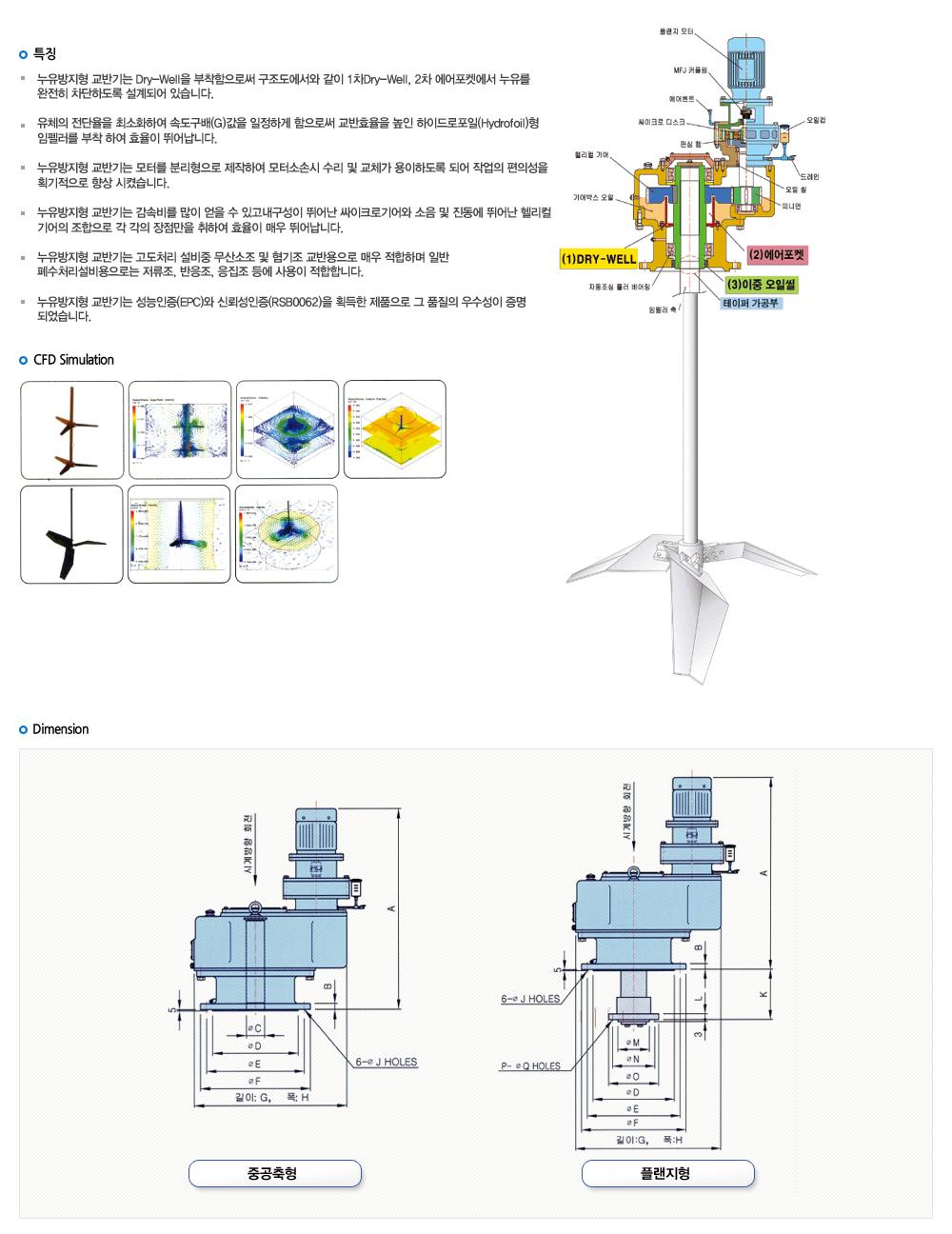 창신기계제작소 누유방지형 교반기