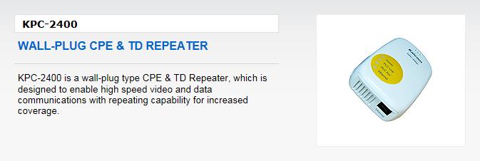 Kaicom Wall-Plug CPE & TD Repeater KPC-2400