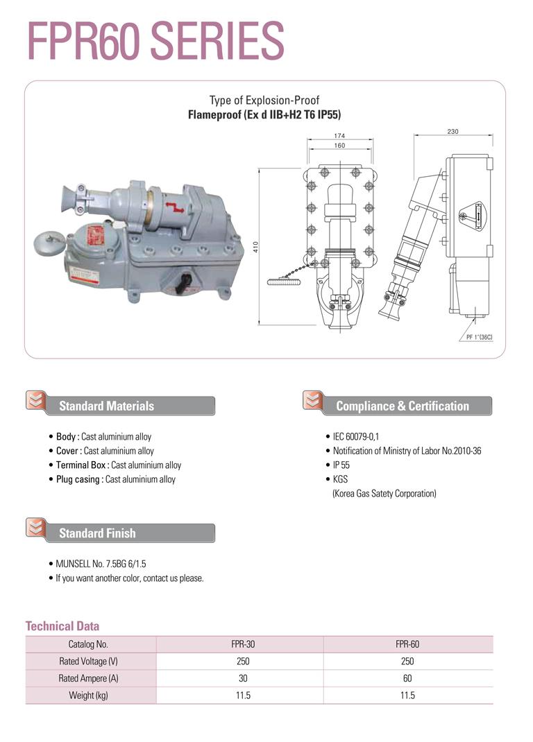 Samik Explosi Onproof Elxctric  FPR60 Series