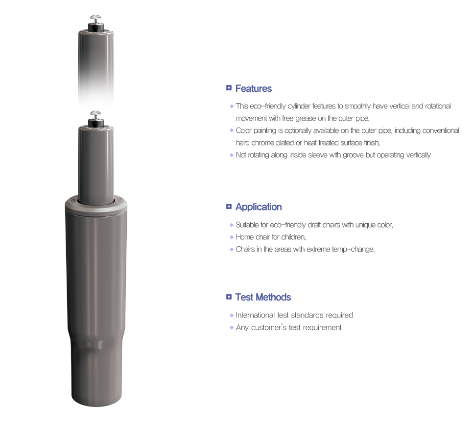 Korea Gas Spring Non-rotational Clean Cylinder