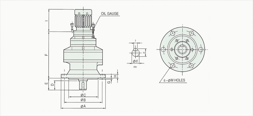 창신기계제작소 싸이크로이드 감속기 - Vertical Reducer  4