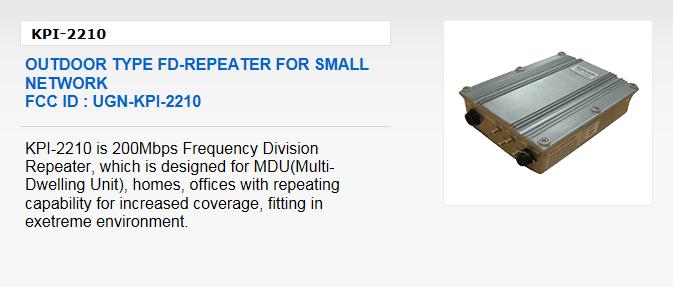 Kaicom Outdoor Type FD-Repeater KPI-2210