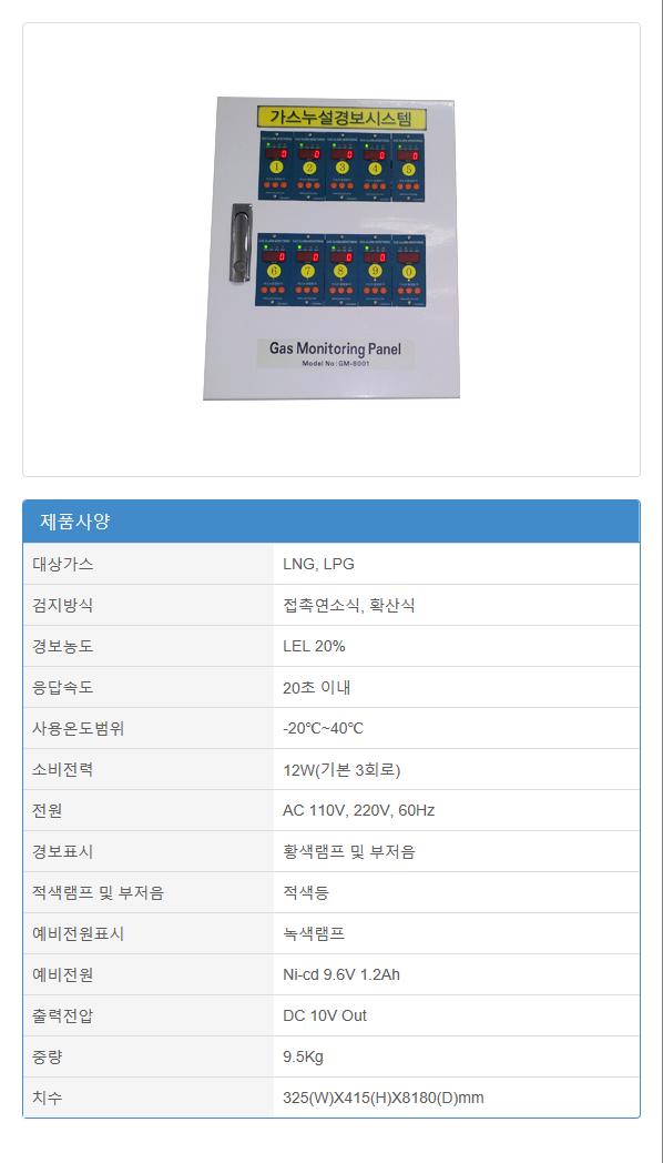(주)에이스전자 산업용 가스누설경보기 GRD-4800