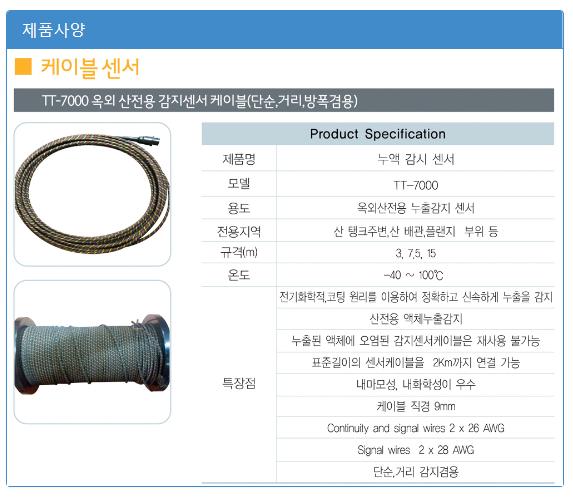 (주)에이스전자 산전용(옥외) / 옥외강산전용 누출감지센서 TT-7000