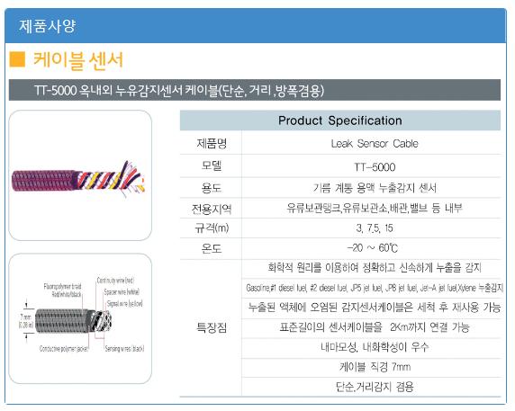 (주)에이스전자 방폭케이블 / 방폭 누유감지센서 TT-5000-EX