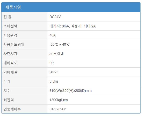 (주)에이스전자 산업용 가스누설차단장치 (40A) GRV-4000A