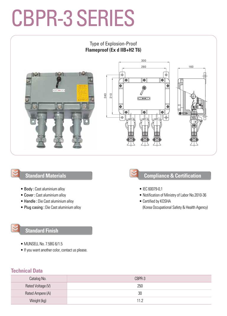 Samik Explosi Onproof Elxctric  CBPR-3 Series
