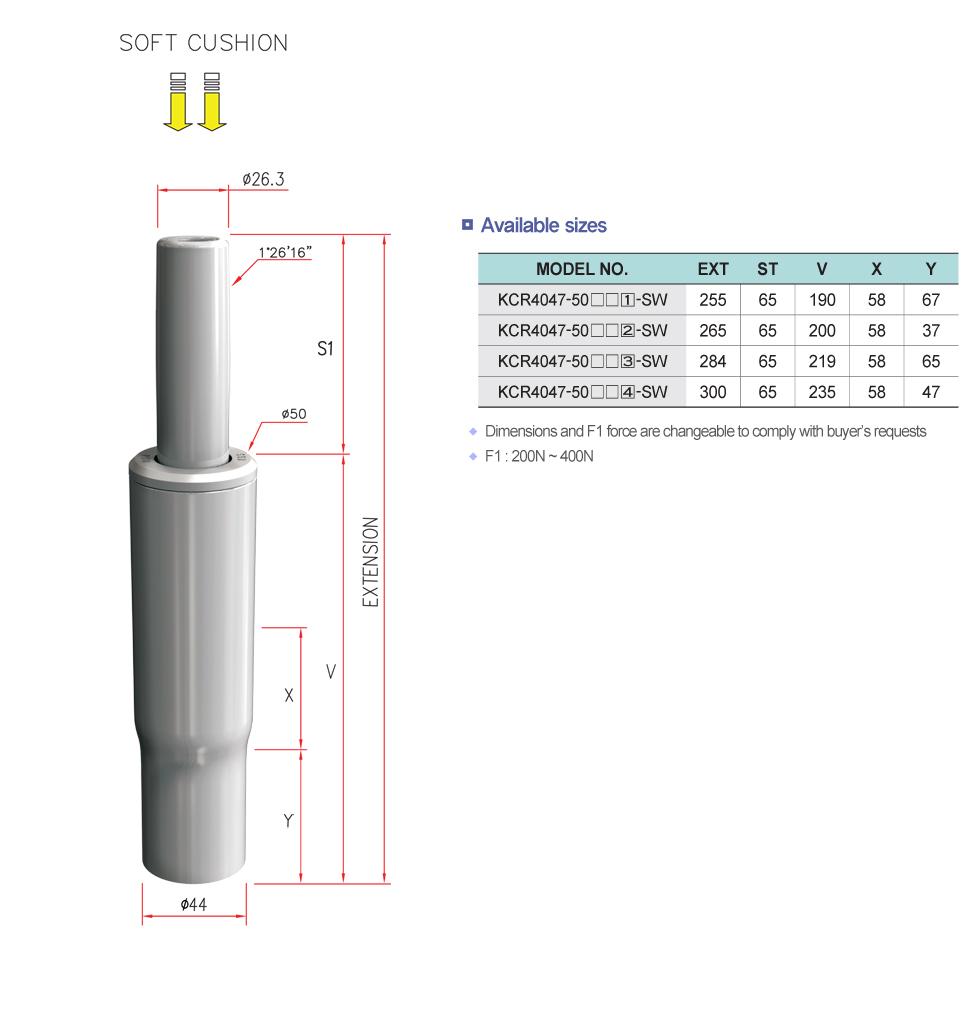 Korea Gas Spring Swivel Clean Cylinder  1