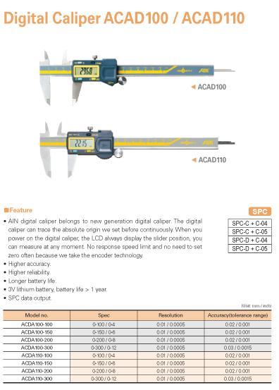AIN Digital Caliper ACAD100/110