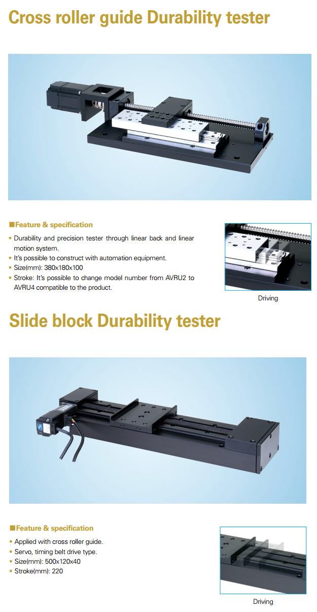 AIN Cross Roller Guide / Slide Block Durability Tester