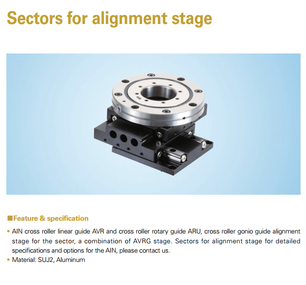 AIN Sector for Alignment Stage