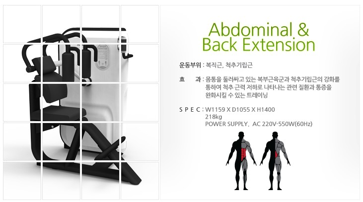(주)젬텍 Adbominal & Back Extension  1
