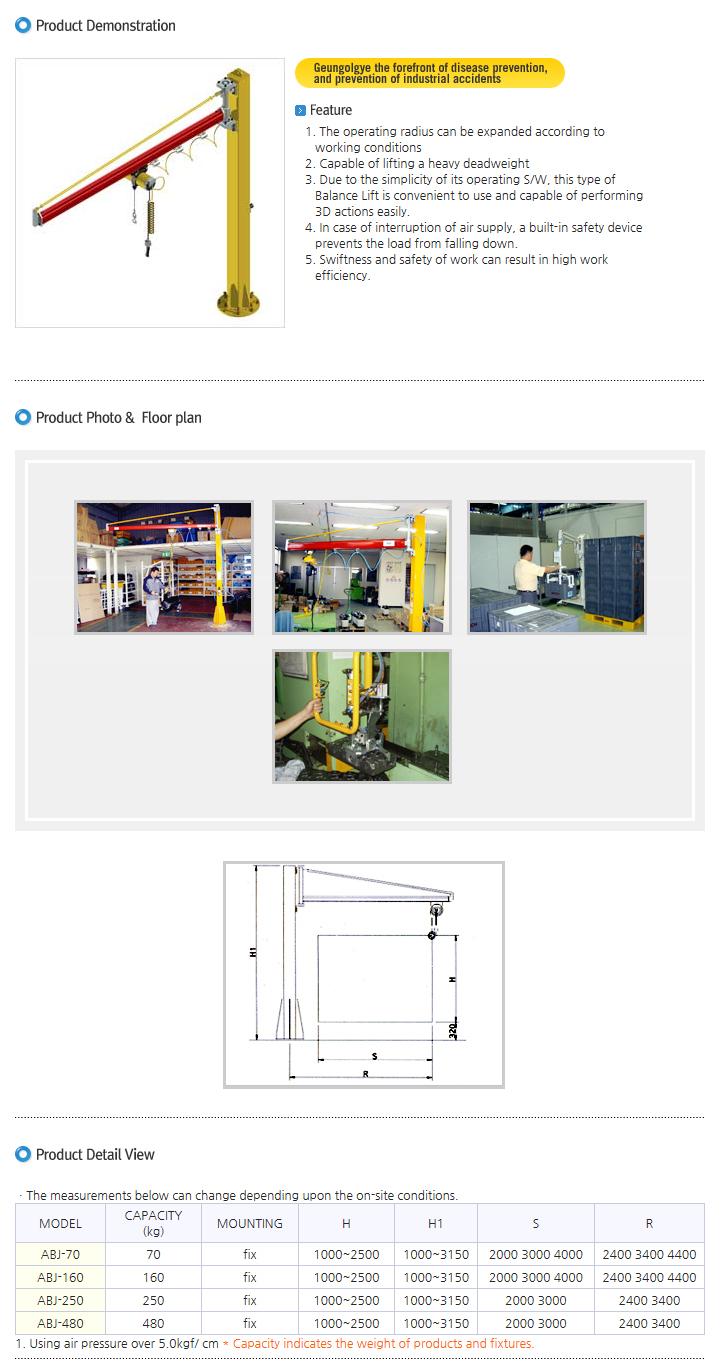 AJIN POWERTEC Industrial Air-Balance Handler ABJ Type