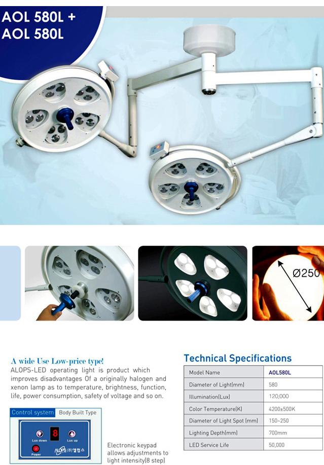 ALOPS Surgical Operating Light AOL-580L+580L 1