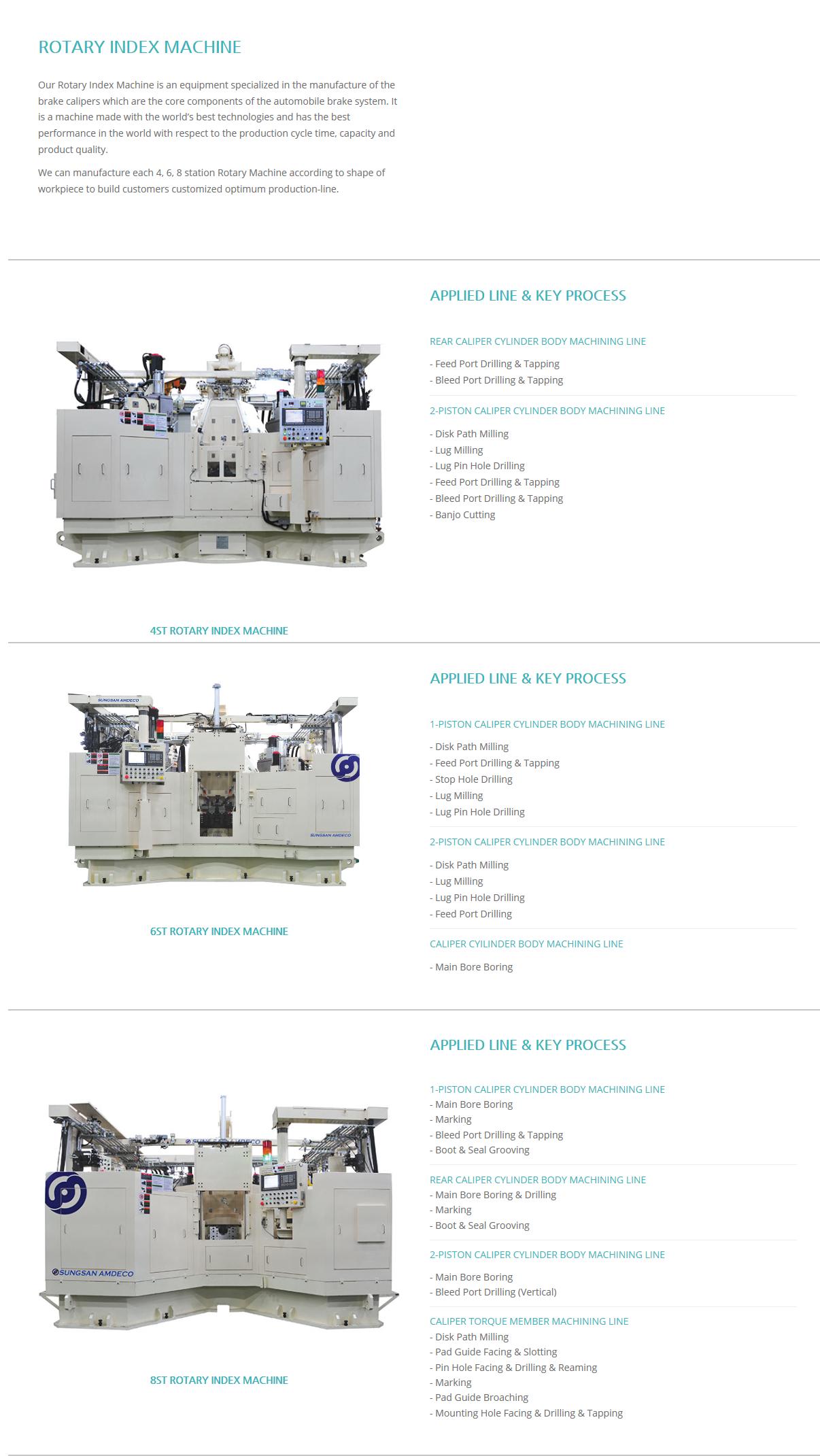 SUNGSAN AM DECO Rotary Index Machine