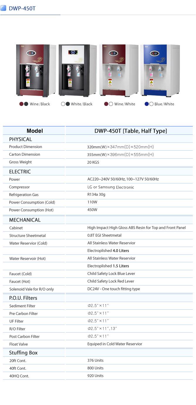 APS TECHNOLOGY Water Purifier DWP-450T