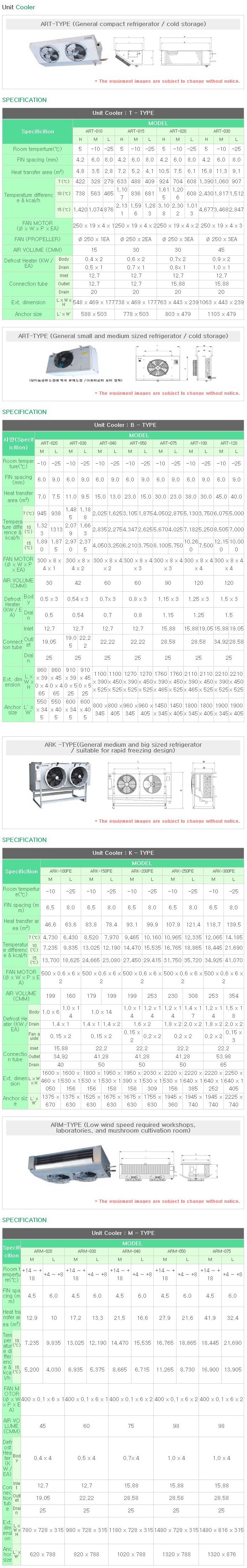 AR Unit Cooler