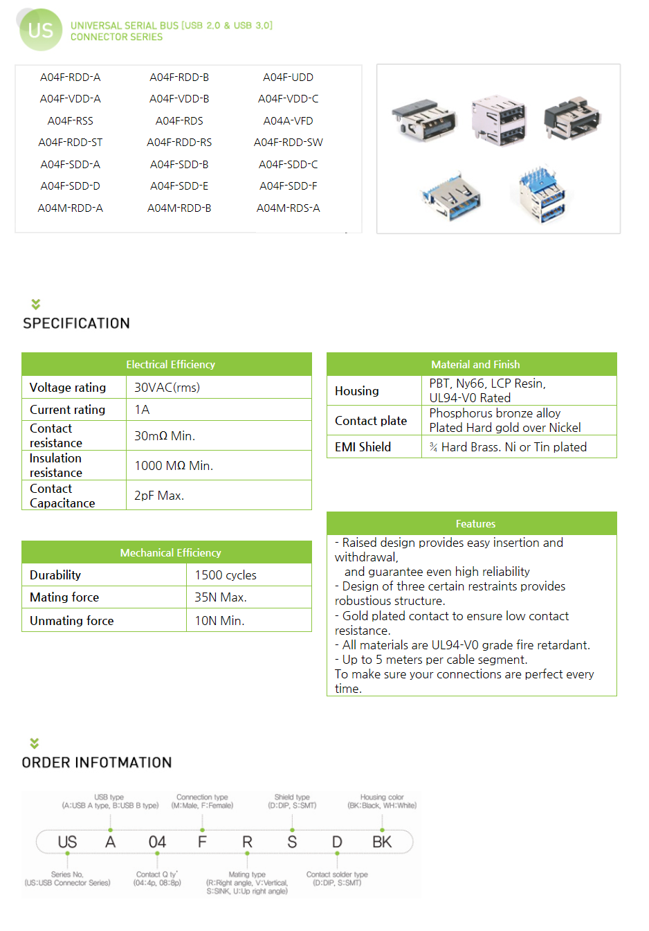 ARINTECH Universal Serial Bus Connector (US)