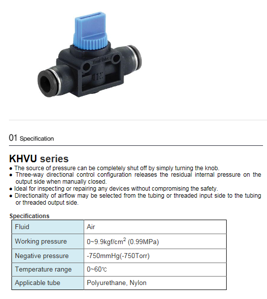 KCCPR One Touch Hand Valve  1