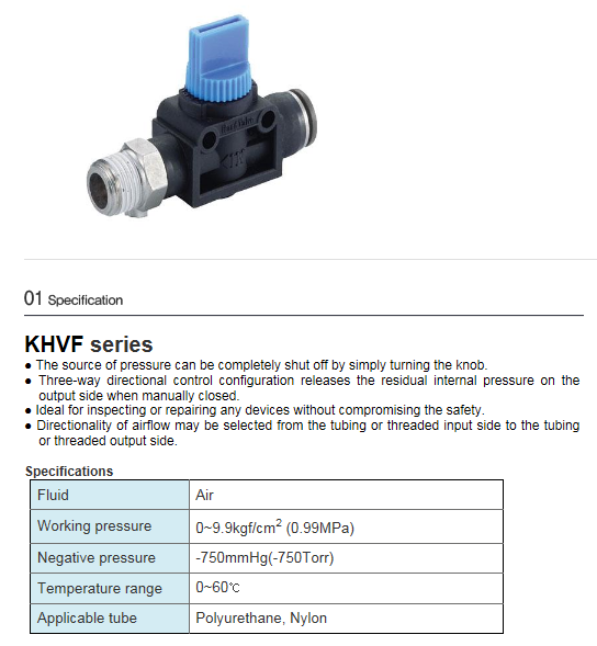 KCCPR One Touch Hand Valve  2