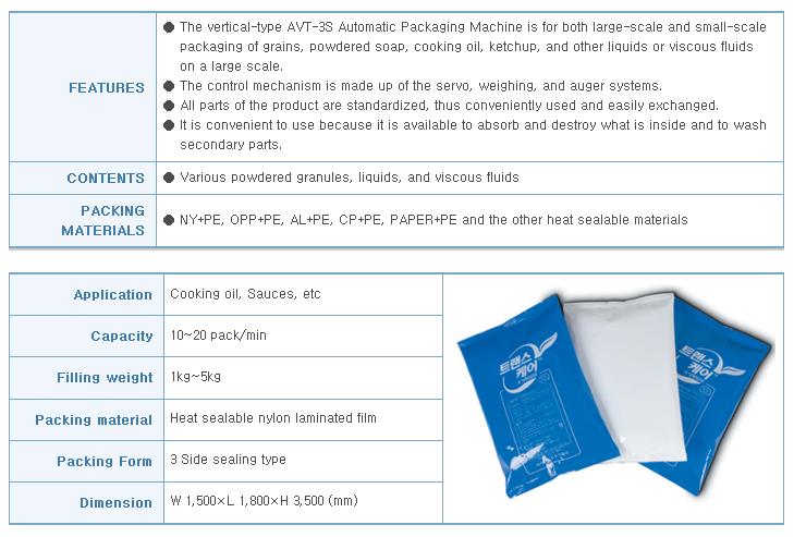 AUTOPACK KOREA Vertical 3 Side Sealing Packing Machine (Servo Touch System) AVT-3S-L-SV