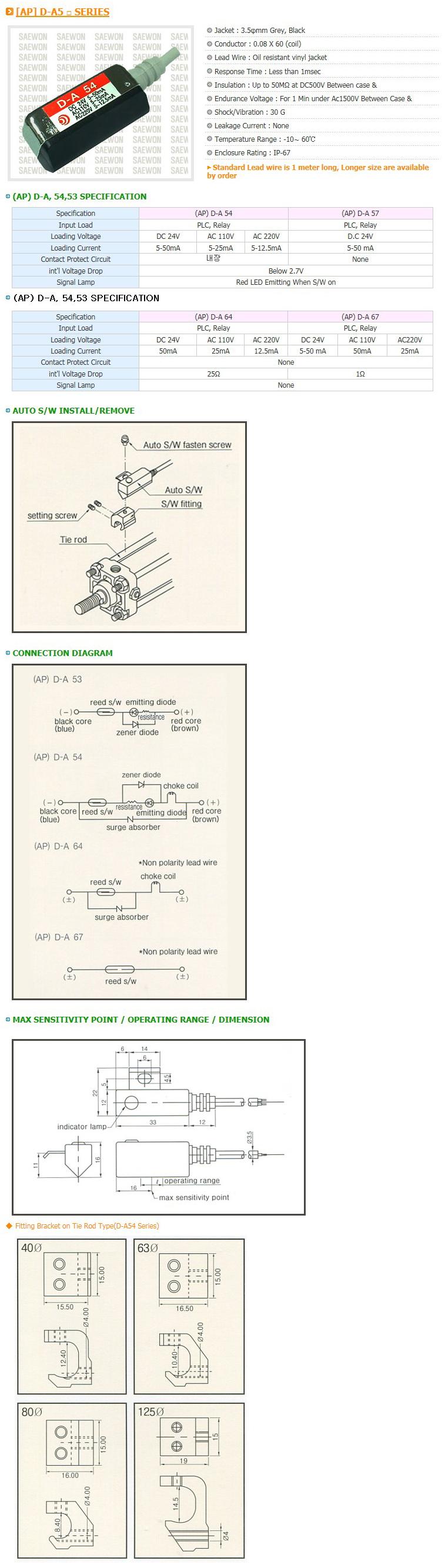 Saewon Electronics DSC AP D-A5 Series