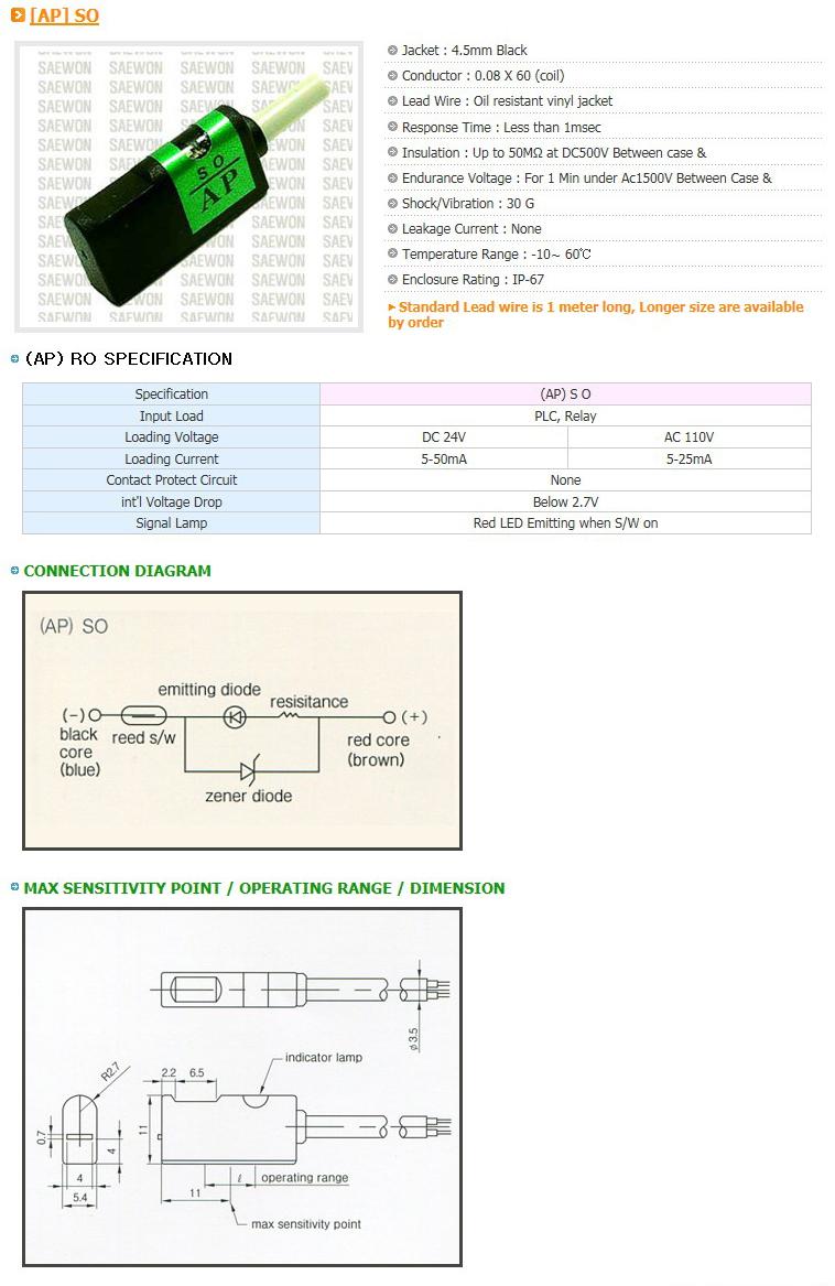 Saewon Electronics DSC AP SO