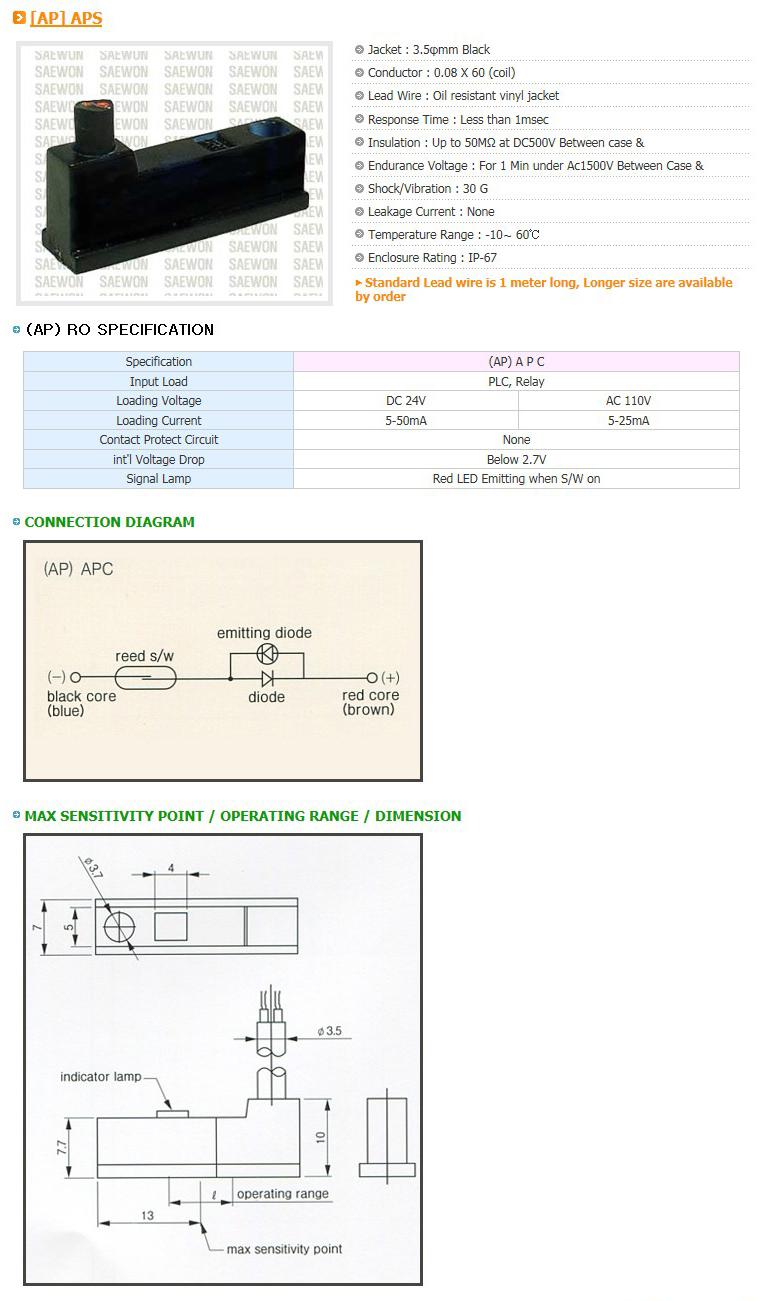 Saewon Electronics DSC AP APC