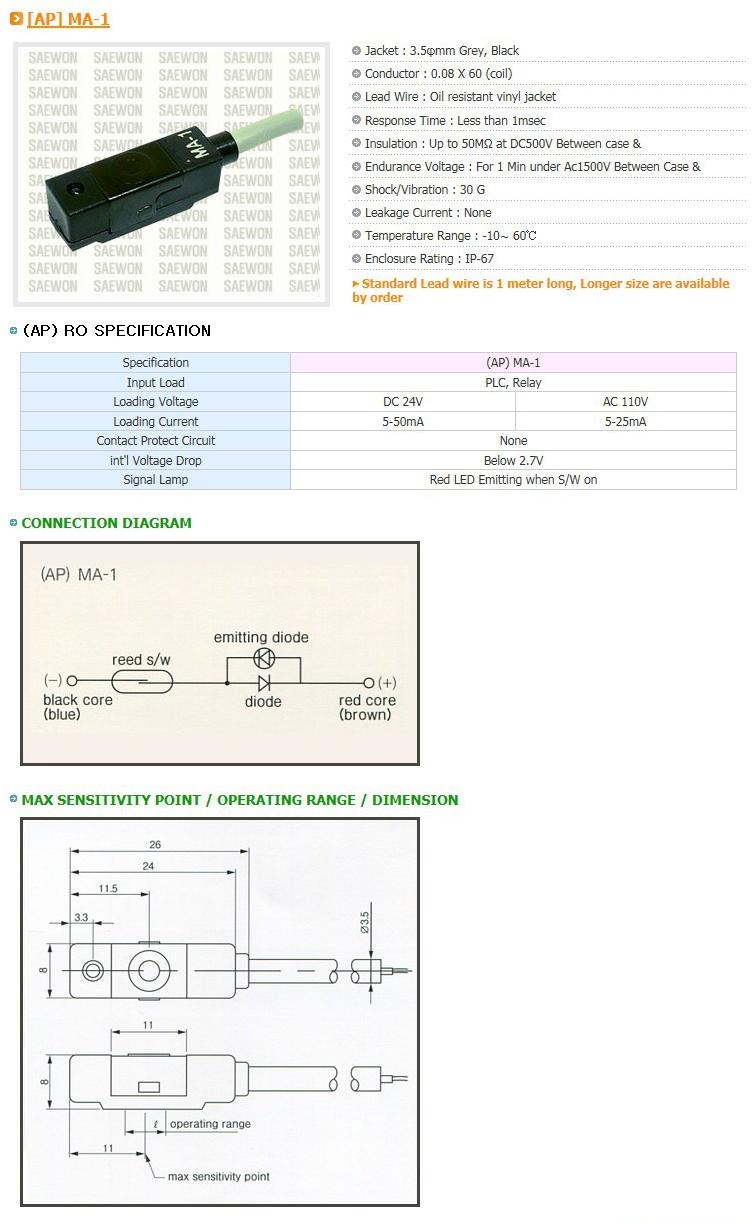 Saewon Electronics DSC AP MA-1