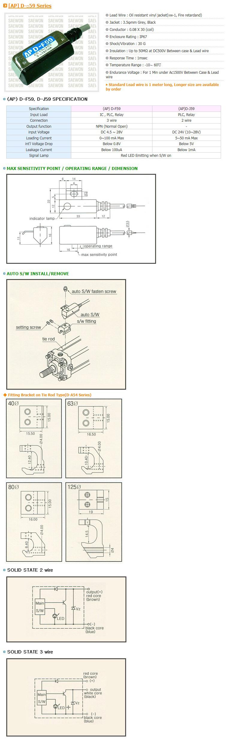 Saewon Electronics PLC AP D-59 Series