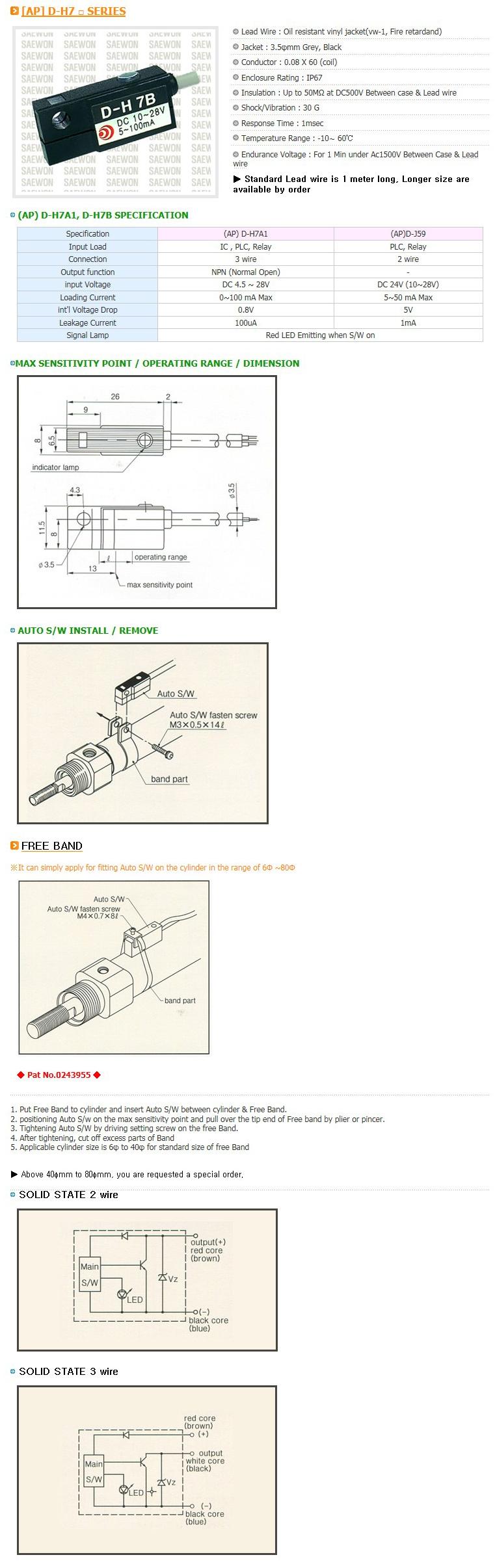 Saewon Electronics PLC AP D-H7 Series