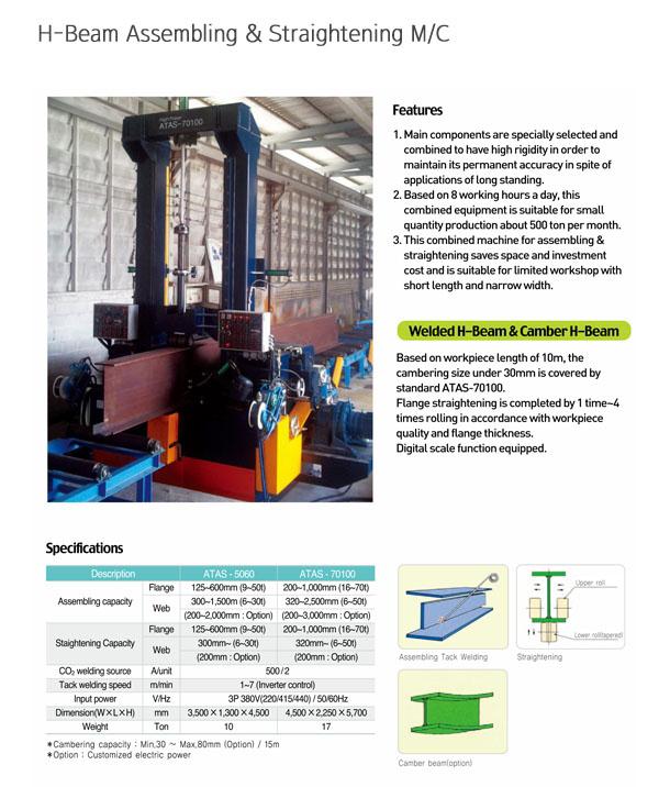 AUTOWEL H-Beam Assembling & Straightening Machine ATAS-5060 / ATAS-70100