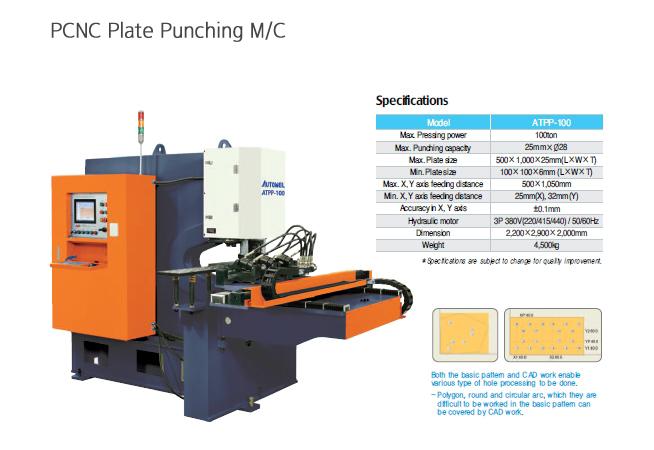 AUTOWEL PCNC Plate Punching Machine ATPP-100