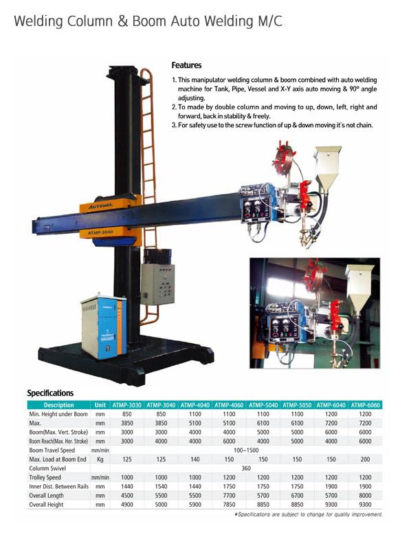 AUTOWEL Welding Column & Boom Auto Welding Machine ATMP Series