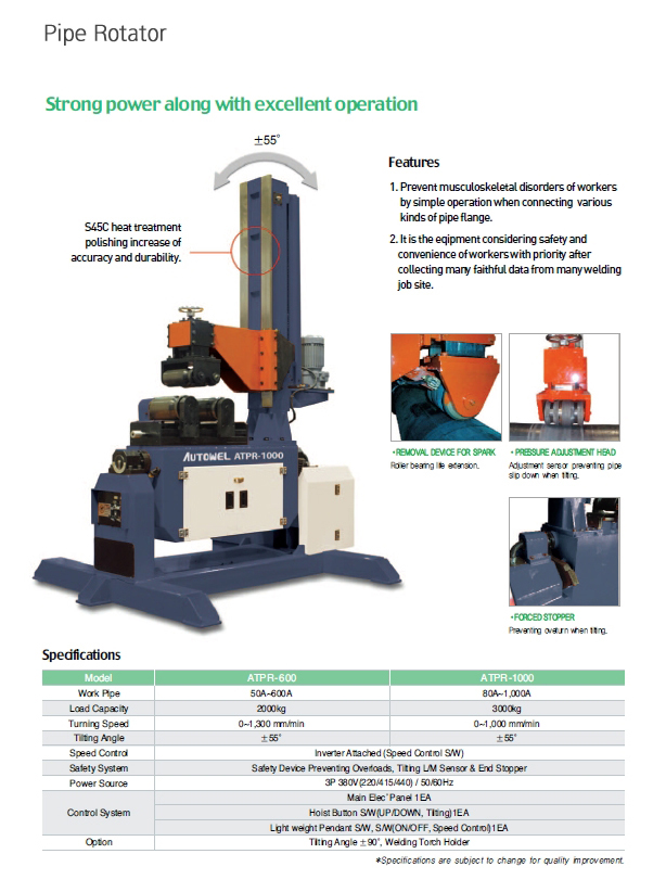 AUTOWEL Pipe Rotator ATPR-600 / ATPR-1000