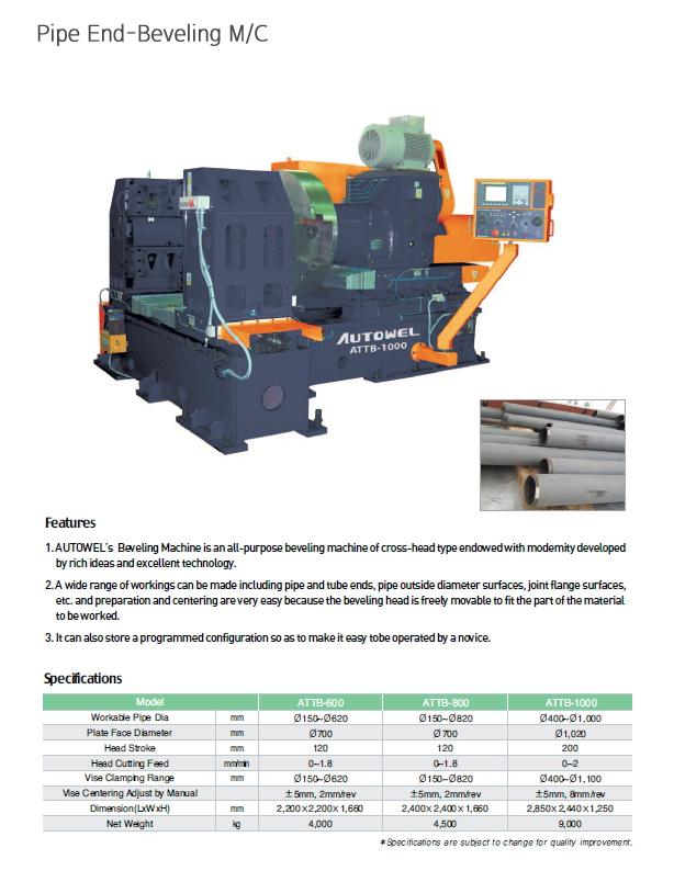 AUTOWEL Pipe End-Beveling Machine ATTB Series