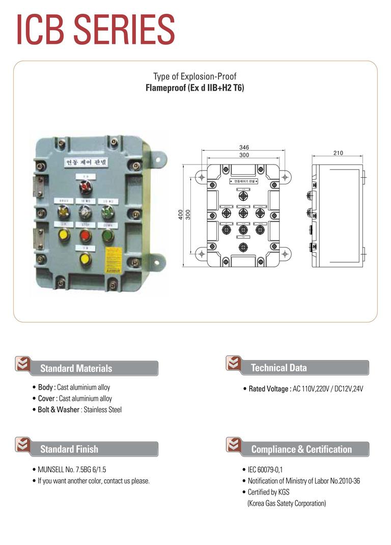Samik Explosi Onproof Elxctric  ICB Series